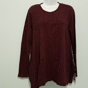 MAX JEANS Size L Long Sleeves Sweater Top Blouse